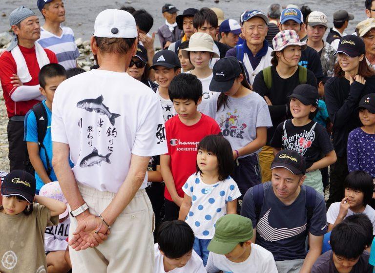 「鮎に教わり、川に学べ」野嶋玉造  夏休み親子つり教室