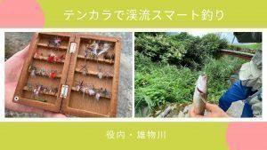 テンカラで渓流スマート釣り(役内・雄物川)
